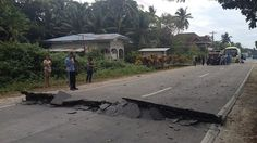 reports road damage, electric lines down in Bohol, Philippines after quake: Philippines Earthquake, Earthquake And Tsunami, Plate Tectonics, Xiamen, Geology, North West, Country Roads, Island