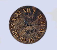 Orologio da parete vintage Shabby Art industrial design bar pab Wood Wall Clock