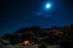 camping at joshua tree