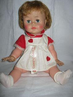 Kissy doll Ideal Toy Company c.1960s By Gatormom13. $45.00, via Etsy.