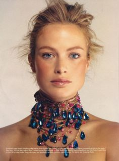 Deborah Davis uploaded this image to 'Models/Carolyn Murphy'. See the album on Photobucket. Shawn Mullins, Carolyn Murphy, Blue Bayou, Real Queens, Family Jewels, Cute Jewelry, My Images, Style Icons, Headpiece