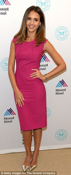 Stunning: She shined as she unveiled The Honest Company's Ultra Clean Room at Mount Sinai Hospital in New York