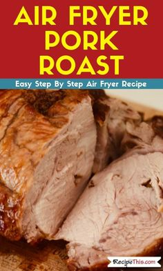 How to cook pork roast in the air fryer. Easy to meal prep and perfect for quick pork roast dinners. Slow Cooker Balsamic Chicken, Cooking Pork Roast, Air Fryer Recipes Pork, Pork Roast Recipes, Roasted Ham, Roasted Sweet Potatoes, Roasted Chicken, Fried Chicken, Atkins Recipes