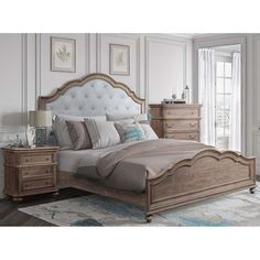 One Allium Way Benji Standard Bed Bedroom Furniture Sets, Bedroom Decor, Furniture, Bed, Home, Country Bedroom, Beautiful Bedding, Home Decor, French Country Bedrooms