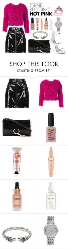 """""""Hot Pink"""" by sara-00-01 ❤ liked on Polyvore featuring rag & bone, Thakoon, Chloé, Christian Dior, Kester Black, The Body Shop, Maybelline, Eloise, Gucci and Michael Kors"""