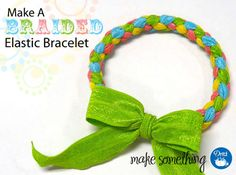 Easy Crafts: Make a Braided Elastic Bracelet with @Dritz Sewing | Supplies available at @Jo-Ann Fabric and Craft Stores