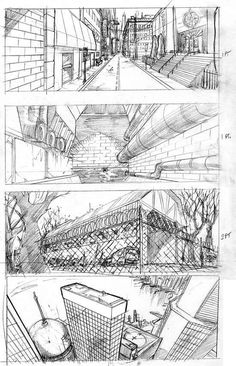 How to Start a Drawing: 5 Methods for Rookies Here is the hardest part var You have a very bright idea in your mind and you know what to do, … Perspective Drawing Lessons, Perspective Art, 3d Drawings, Drawing Sketches, Drawing Tips, Animation Storyboard, Background Drawing, Manga Drawing, Drawing Techniques
