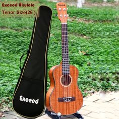 "93.00$  Buy here - http://aliwk0.worldwells.pw/go.php?t=32572412412 - ""Free shipping 26"""" Tenor Ukulele acoustic Guitar mahogany strings guitarra ukelele Hawaii uke handcraft musical instruments+Bag"""