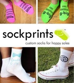 ☀ rush crush sponsor spotlight ~ catching up with Sockprints & Pillowprintz! ☀ | sorority sugar