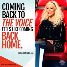 Christina Aguilera is back at #TheVoice and right at home.
