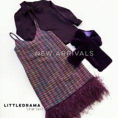 Густой осенний фиолетовый сет для коктейлей и особенных мероприятий: платье-комбинация из шерстяной шанельки с перьями страуса, невесомая полупрозрачная блуза с бантом из шёлкового шифона, фиолетовый меховой шарф. Эксклюзивно в @dramastore_by_nc. Стоимость:  23 000₽ платье, 18 000₽ блузка, 15 000₽ шарф из меха кролика. Все детали: +7 906 755-30-20 (WhatsApp/Viber/Директ)  #littledrama_by_nc #littledrama_fw1617 #шелковаяблузка #блузасбантом #платьекомбинация