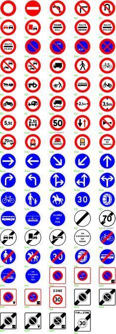 Signalisation de prescription A Danger, Transport Routier, Prescription, Social Studies, Coding, Graphic Design, Transportation, Mandala, Miniatures