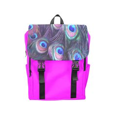 Peacock Feather Casual Shoulders Backpack. FREE Shipping. FREE Returns. #lbackpacks #peacock
