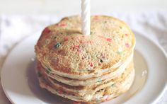 Sugar Cookie Protein Pancakes Protein Cookies, Protein Pancakes, Healthy Breakfast Breads, Confetti Cake, Happy Birthday Jesus, 12 Days Of Christmas, Meals For One, Birthday Celebration, Sugar