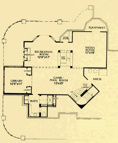 Architectural House Plans : Floor Plan Details : Mountain Luxury Basement  Plan ID Number: KK