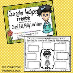 The Picture Book Teacher's Edition: Stand Tall, Molly Lou Melon by Patty Lovell - Teaching Ideas