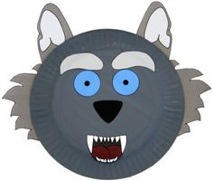 paper plates Paper Plate Wolf Craft for kids Kids Crafts, Animal Crafts For Kids, Animals For Kids, Preschool Crafts, Projects For Kids, Diy For Kids, Paper Plate Masks, Paper Plate Animals, Paper Plate Crafts