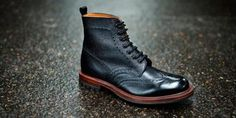 black wingtip, men style, men fashion, wingtip boot, shoe, boot black, men apparel, boots