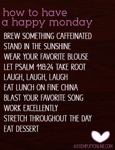 Happy Monday Inspirational Quotes | How to have a happy Monday! | Quotes/Verses/Inspirational