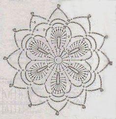Anabelia craft design: Crochet doilies and lace motifs - motif 3 Crochet Snowflake Pattern, Crochet Motif Patterns, Crochet Snowflakes, Crochet Diagram, Crochet Chart, Crochet Squares, Crochet Doilies, Bag Patterns, Lace Doilies