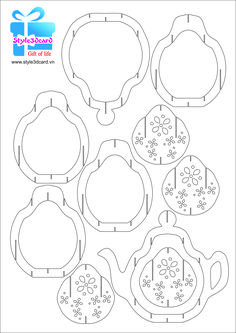 Tea-pot-3d-pop-up-greeting-card pattern