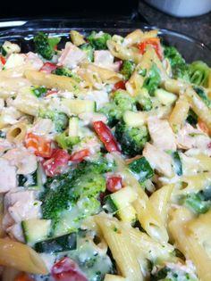Smokey Oates BBQ: Healthy Chicken Vegetable Casserole freezer meal
