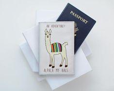 Cute Alpaca Travel Holder ID holder Travel Accessories Custom