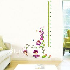 Aliexpress.com : Buy Morning glory baby measure 60*180cm height wall stickers /kids wall stickers decorative painting background wallpaper, WS 37 from Reliable Morning glory baby height wall stickers suppliers on SW-STAR Rainbow Home $6.59