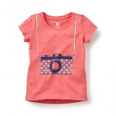 Pink Graphic Tee Shirt for Little Girls | Tea Collection