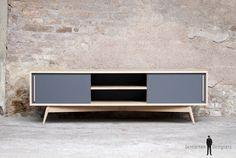 GENTLEMEN DESIGNERS // Meuble hifi tv bois chêne, made in France, sur-mesure