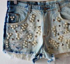 e194c08765 shorts customizados pérolas - Pesquisa Google Jaqueta Jeans