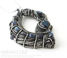 Quantum leap  biomechanical statement pendant  sterling by IMNIUM, $849.99