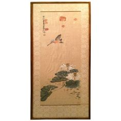 Chinese Calligraphy Scroll Painting of a Kingfisher 1