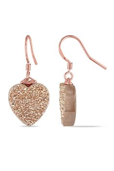 Heart Shape Rose Gold Earrings.