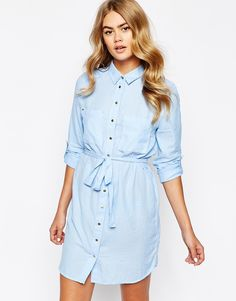 River Island Denim Shirt Dress