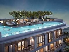 Patong Beach rooftop pool