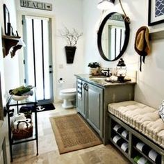 Love The Mirror Nautical Theme Bathroom Eclectic Coastal Bathrooms Beach