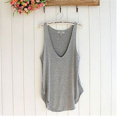 Shocking Show Amazing Fashion Summer Woman Lady Sleeveless V-Neck Candy Color Vest Loose Tank Tops Summer Style