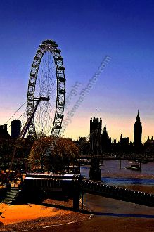 London Cityscape, The London Eye and The Houses of Parliament #londonphotography #art #photograph