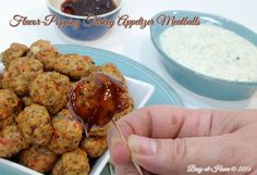 These yummy meatballs simply burst with flavor. Add dipping sauces like tzatziki or barbecue and you have appetizers that will disappear as fast as you can serve them. Get the delicious recipe at Busy-at-Home! #700ReasonsforSummer #recipe #ad #appetizers #IC