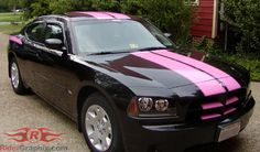 Pink & black Dodge Charger. LOVE THIS!! <3 even tho I'd rather have a truck...this car is beautiful!