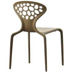 Moroso Home Supernatural Set Of 4 Chairs (2,515 ILS) ❤ liked on Polyvore featuring home, furniture, chairs, accent chairs, brown, stackable furniture, brown chair, moroso, stacking chairs and brown furniture
