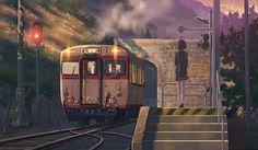 大成建設 CM アニメ 「ボスポラス海峡トンネル」篇-帰宅のホーム・完成美術(2006x1166px) ※撮影前
