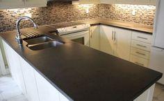 Concrete Countertops- yes on backsplash