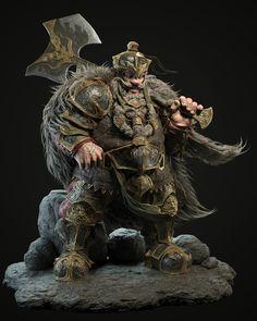 Fantasy Races, Fantasy Armor, High Fantasy, Zbrush, Fantasy Dwarf, Art Station, Fantasy Miniatures, Warhammer Fantasy, Best Artist