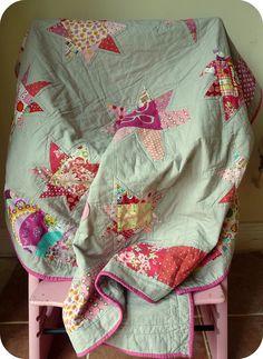 pretty star quilt