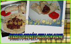 La cocina de Maetiare: Burrito expréss chili con carne