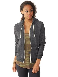 A classic zip-up hoodie for women, crafted from our super soft Eco Fleece for warmth all year long. Features a slim silhouette.