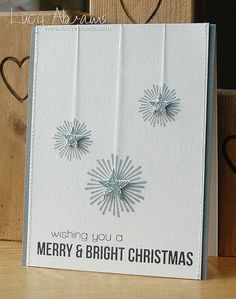 Lucy's Cards by Lucy Abrams: Bright Stars - Simon Says Stamp Christmas Week - Day 3 Chrismas Cards, Stamped Christmas Cards, Christmas Card Crafts, Homemade Christmas Cards, Christmas Cards To Make, Xmas Cards, Homemade Cards, Diy Cards, Cricut Christmas Cards