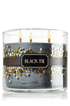 Black Tie 14.5 oz. 3-Wick Candle - Slatkin & Co. - Bath & Body Works... This smells like a man in a jar, and that happens to be one of my favorite kinds of fragrances. Awesome!